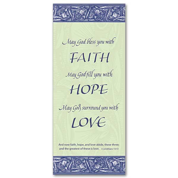 Faith Hope Love Bookmark Bookmark