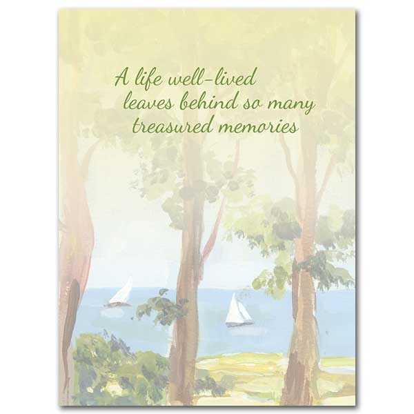 A Life Well Lived Celebration Of Life Sympathy Card