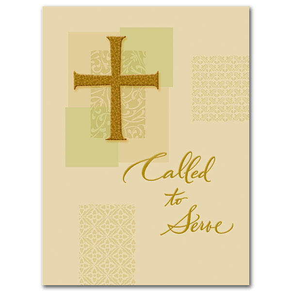 Called To Serve Ordination Congratulations Card