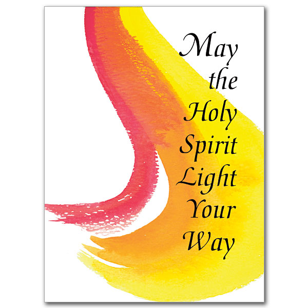 May The Holy Spirit Light Your Way Confirmation Card