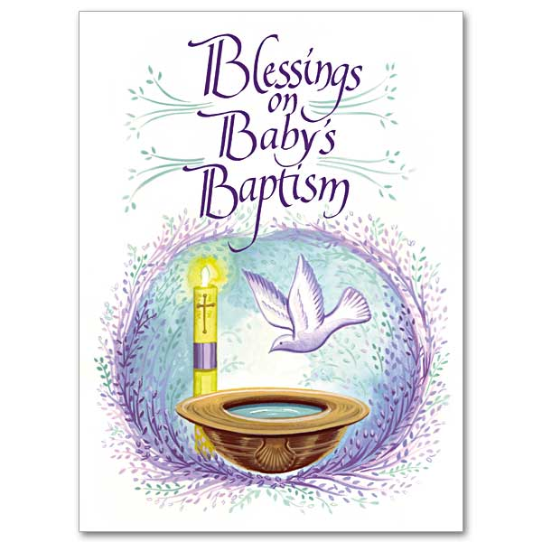 Blessings On Babys Baptism Baptism Card Child