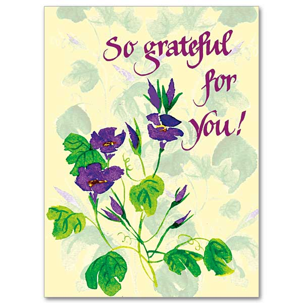 So Grateful For You Thank You Card