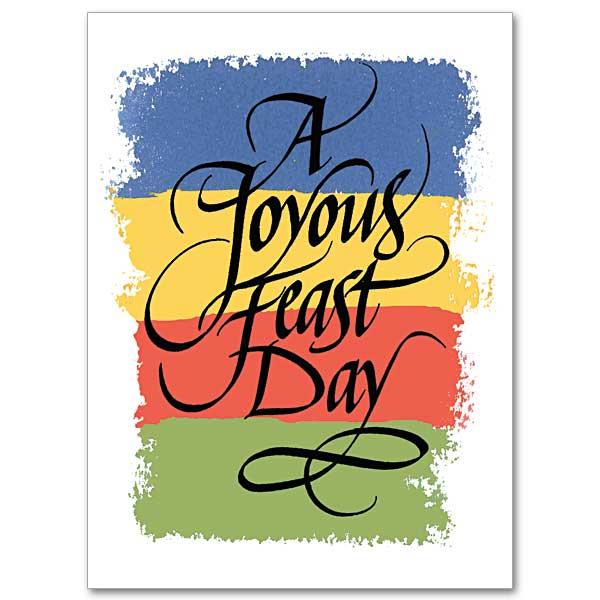 A Joyous Feast Day Feast Day Card