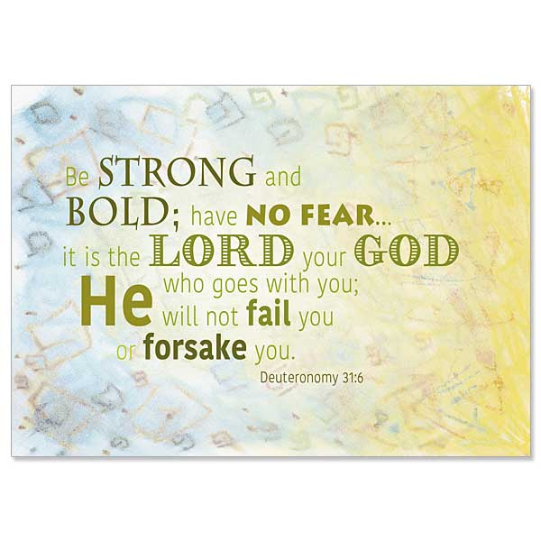 Be Strong And Bold ChristianCare Inspirational Blank Card