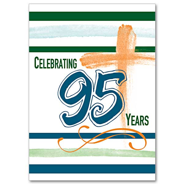 Celebrating 95 Years 95th Birthday Card