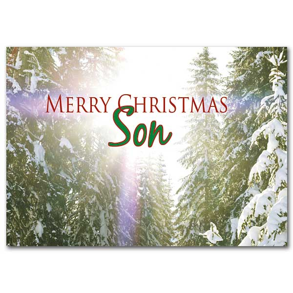 Merry Christmas Son Christmas Card For Son
