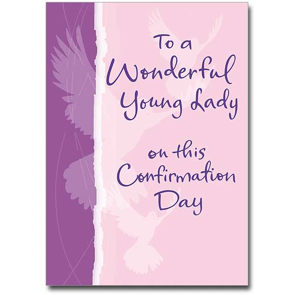 To A Wonderful Young Lady Confirmation Card Feminine