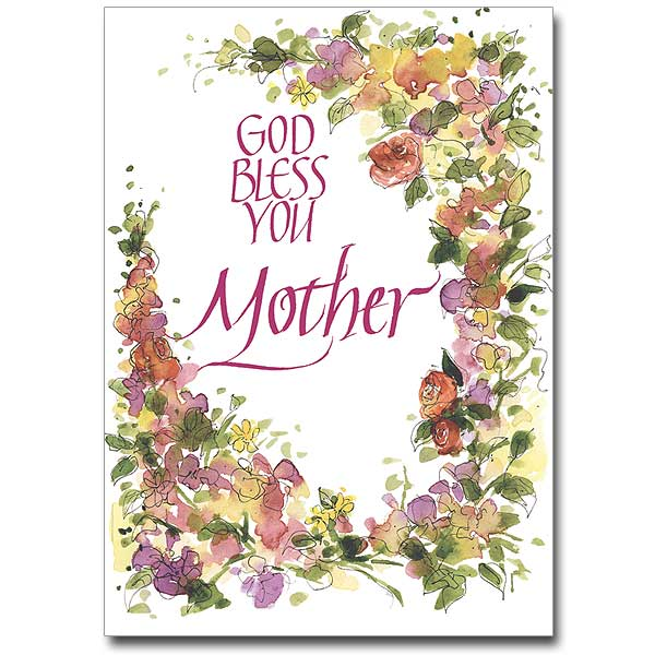 God Bless You Mother Mothers Day Card