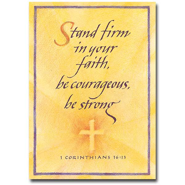Stand Firm Election RCIA Encouragement Card