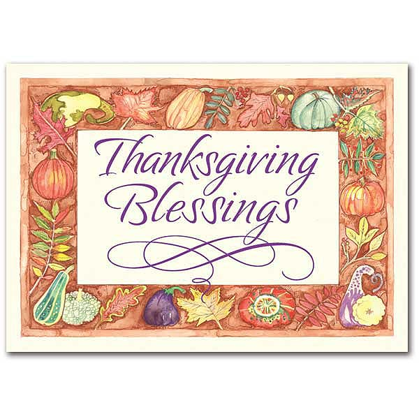 Thanksgiving Blessings Thanksgiving Card