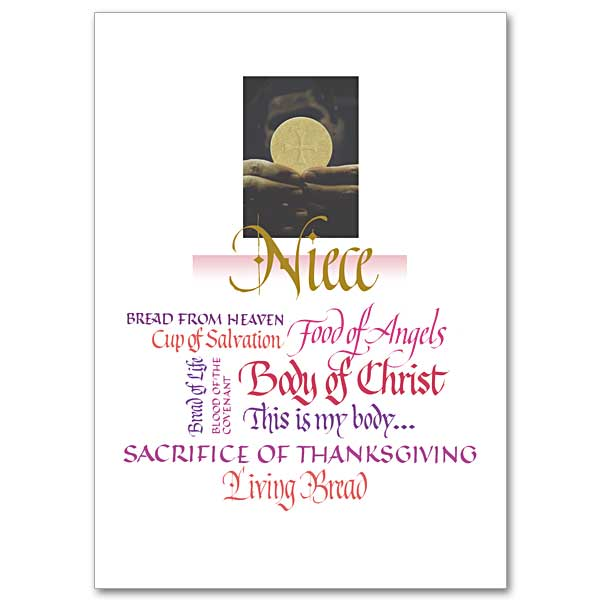 Niece First Communion Card First Communion Niece