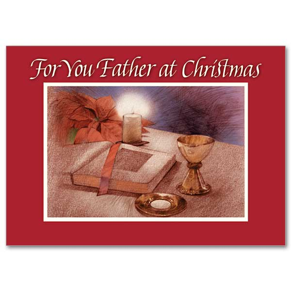 For You Father At Christmas Christmas Card For Priest