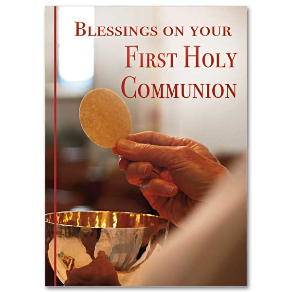 Blessings On Your First Holy Communion First Communion Card
