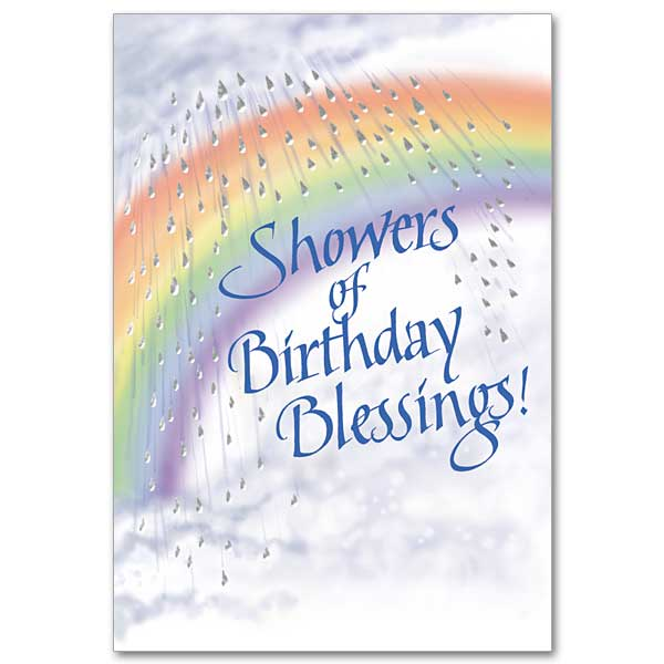 Showers Of Blessings Birthday Card