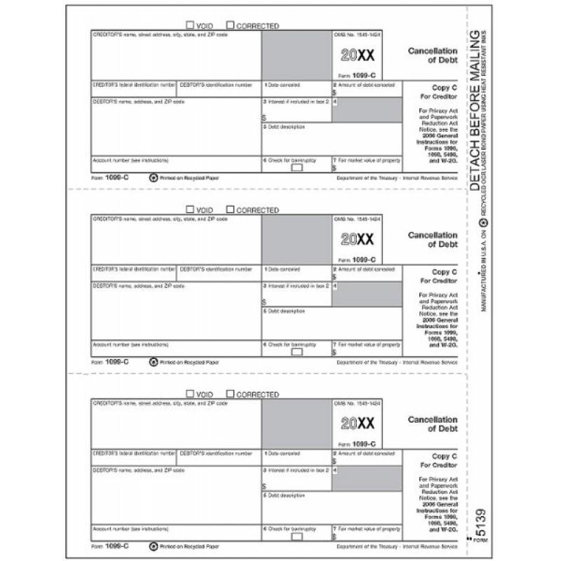 Laser C Tax Forms Copy C