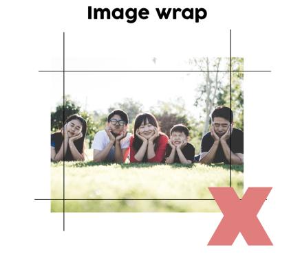 Wrong Image Wrap