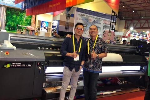 PT. Multi Sistem Teknologi Hadirkan LDP Raptor UV Hybrid Printer