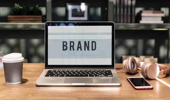 Designing brands on a laptop