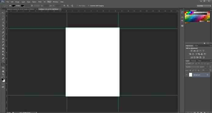 Add full bleed guidelines when designing for Photoshop prints