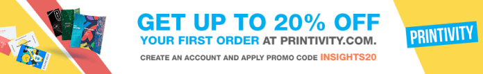 Coupon for 20% off your first order at Printivity.com