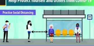 Practice social distancing poster