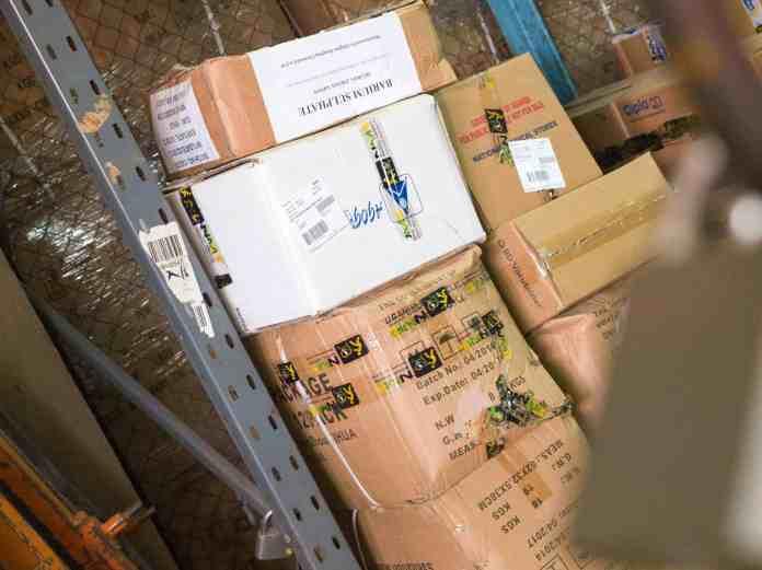 damaged shipping boxes