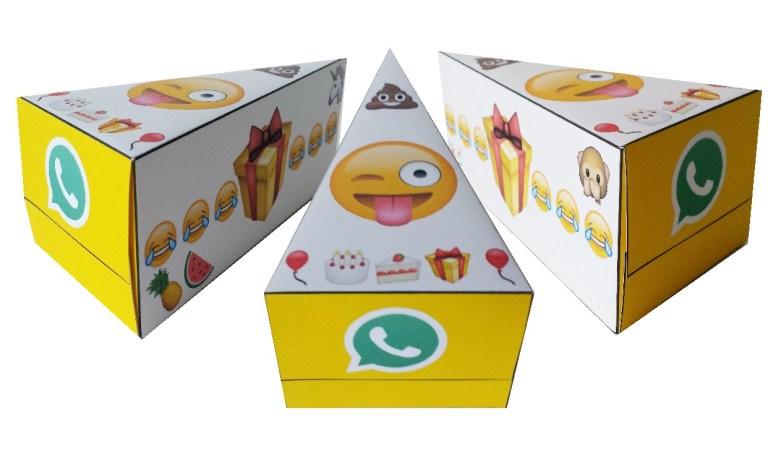 WhatsApp emoji taartpunt en prikkers