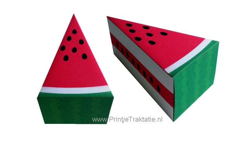 Watermeloen traktatie taart