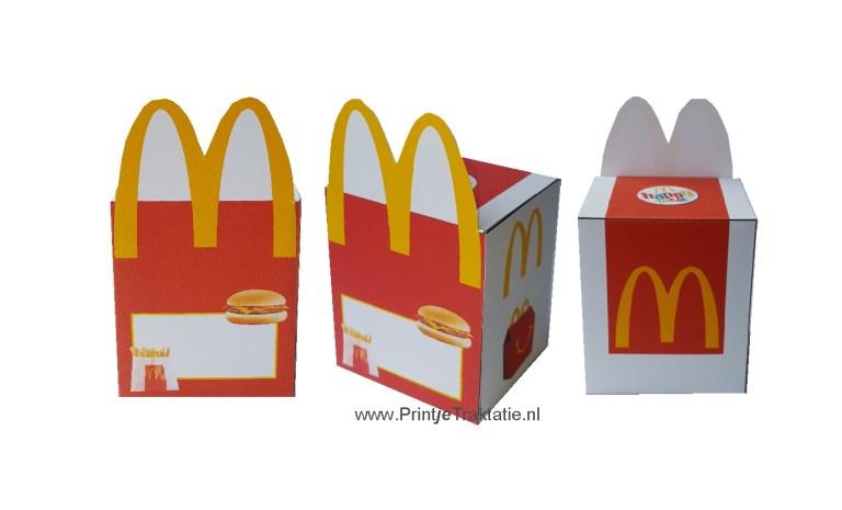 McDonalds doosje