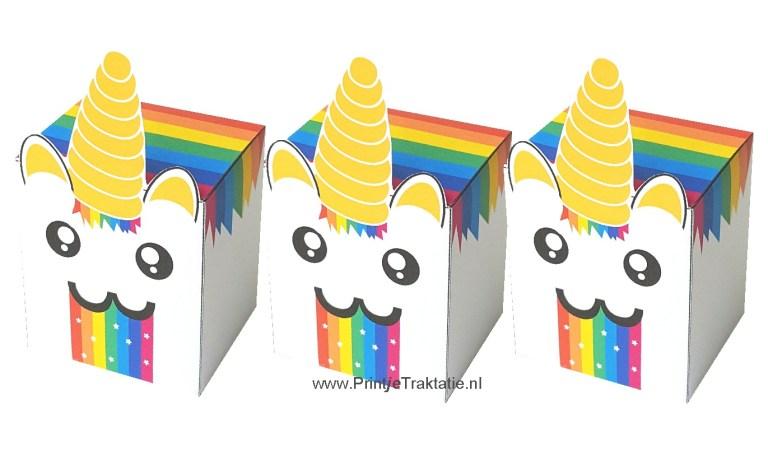 Rainbow unicorn puke