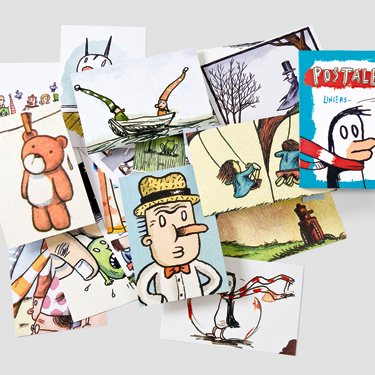 A collection of postcards by Liniers