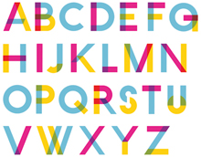 Display typeface for The One Show, 2008. Designers: Labour/Bigstar NY