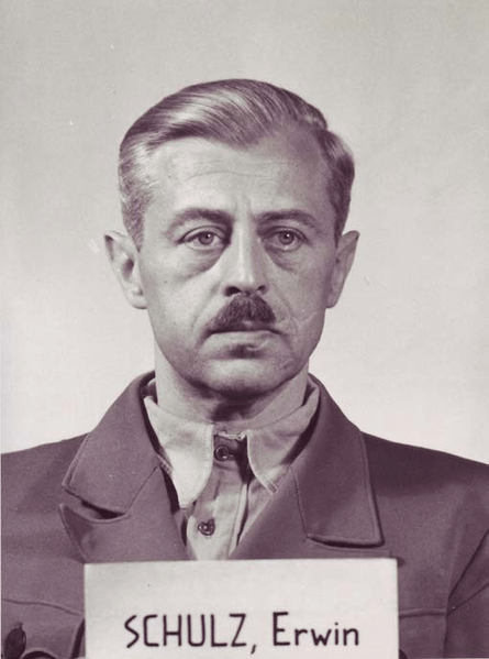 Erwin Schulz at the Nuremberg Trial