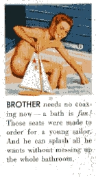 ADVERTISMENT BROTHER IN THE BATH