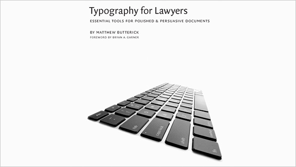 Thumbnail for Today's Obsession: Typography for Lawyers
