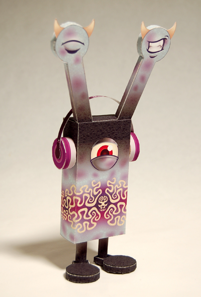 Doze, a leechoso species of paper toy monster created by baykiddead and skinned by abz.