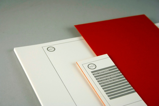 Stationery created for 101 Editions