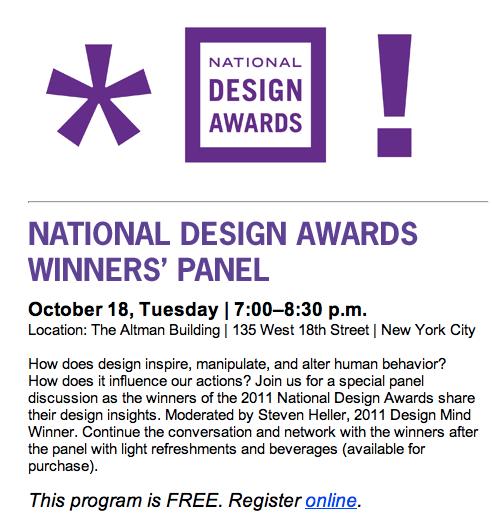 Thumbnail for National Design Awards Panel – Free!