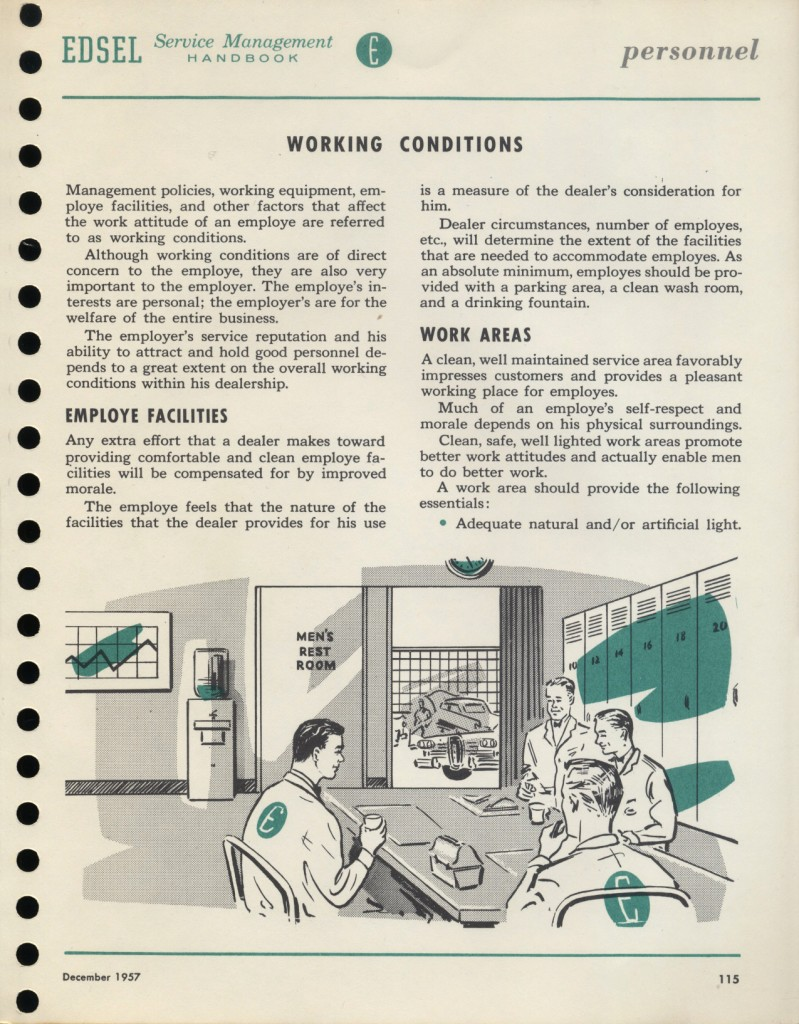 """1st issue of the Edsel """"Service Beacon"""""""
