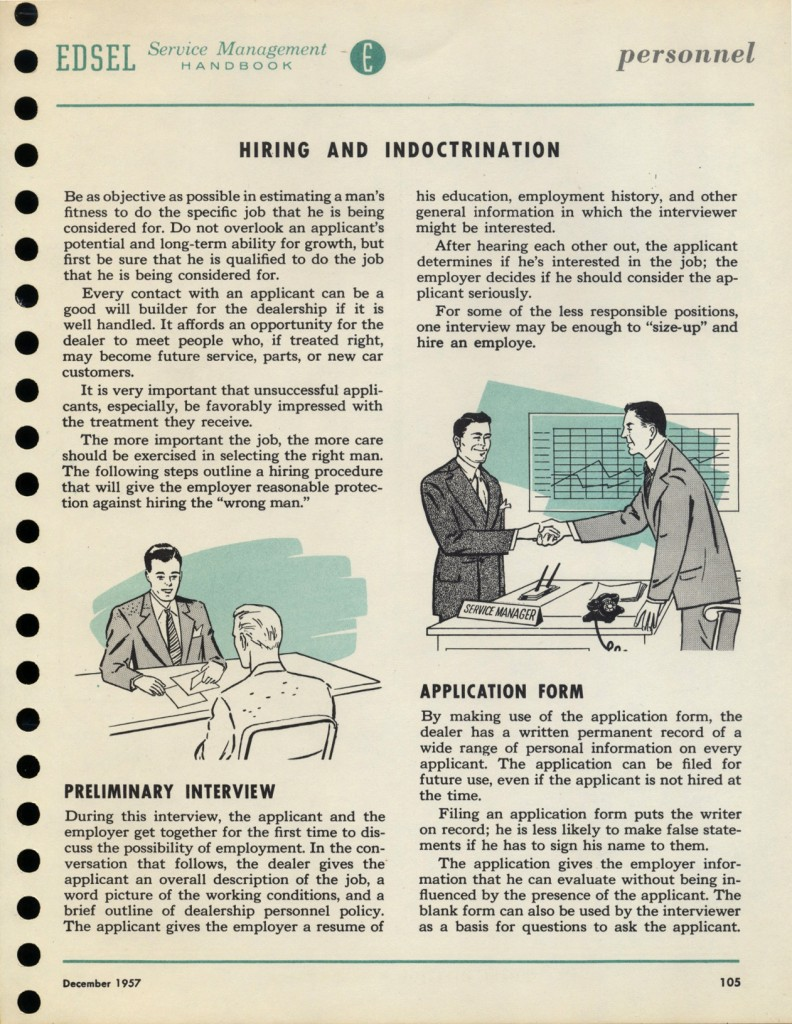 pages from the 1957 Sales Managemant manual