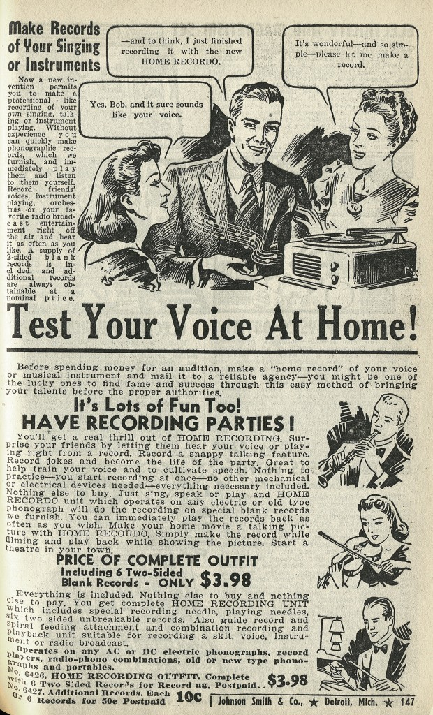 Test your voice at home