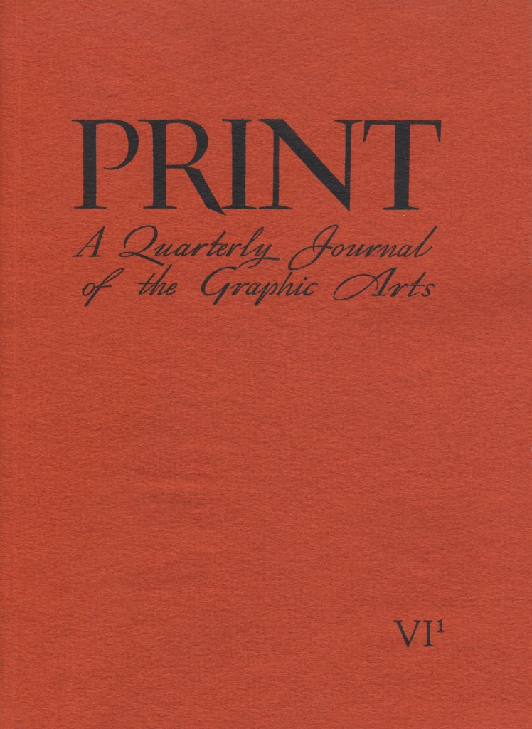 Volume VI, Number 1. Cover by Thoreau MacDonald.