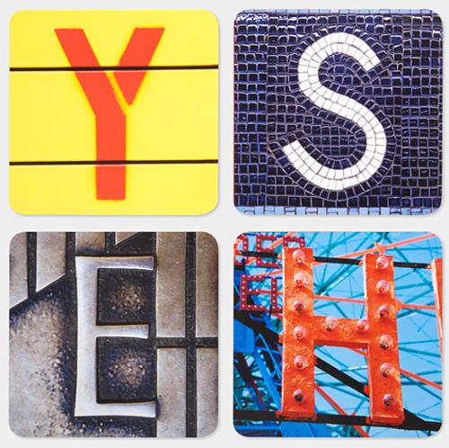 Coasters Alphabet City S26