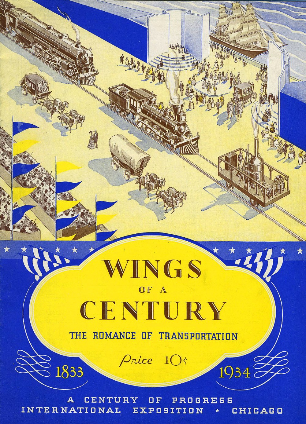 """""""Wings Of A Century"""" was a railroad history pageant presented on the lakefront."""
