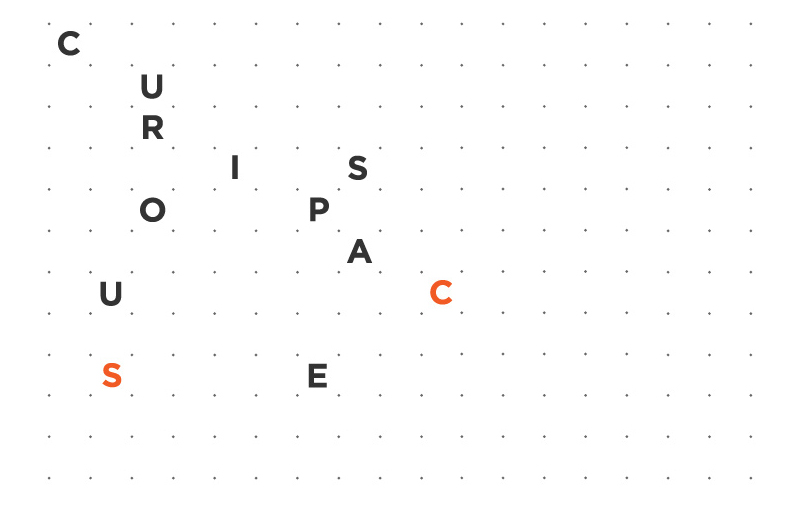 Mash Creative and MayNinth collaborated to create this inventive and playful adaptive identity for design studio Curious Space, a business that specializes in creating unique museum and gallery spaces.