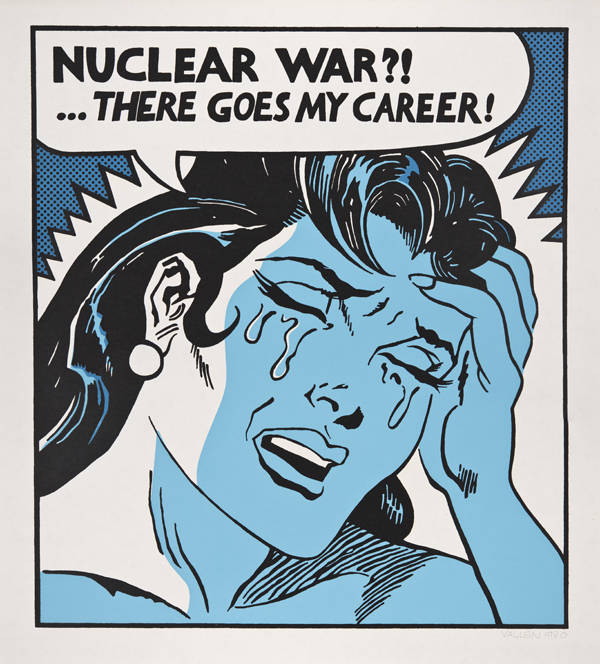 Mark Vallen (Shock Battalion): Nuclear War?! There Goes My Career!, 1982