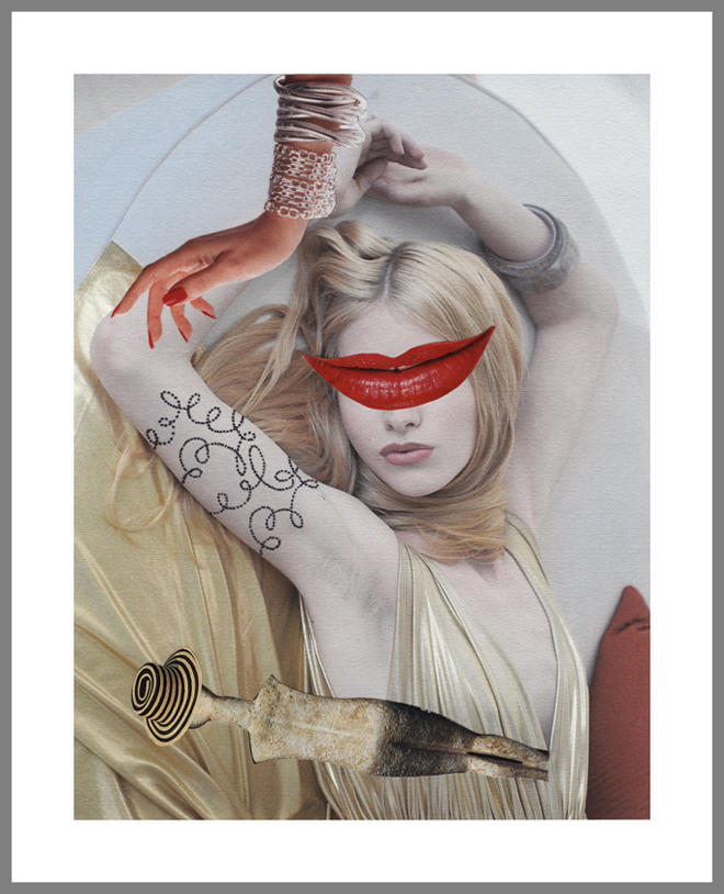 """""""Ancient Beauty,"""" from the series """"The Model Project,"""" 2009. Digital print on aluminum. Courtesy of the artist"""