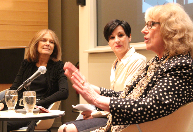 """""""Gloria Steinem in Conversation with Barbara Nessim"""" was hosted in conjunction with the exhibition, """"Barbara Nessim: An Artful Life"""" on view through January 11 at the Bard Graduate Center Gallery in New York"""