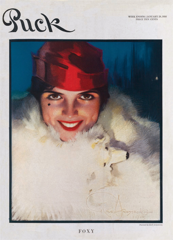 """Rolf Armstrong, """"Foxy,"""" 1916."""
