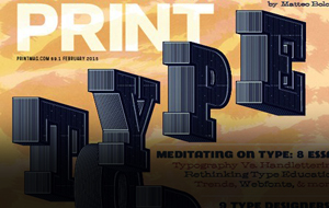 Thumbnail for Print's February 2015 Issue – The Typography Issue